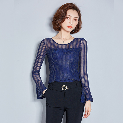 J63801 Summer One Size 2018 Chiffon Shirt V Neck Solid Color Sleevess Office Lady Work Casual Shirts(China)