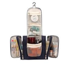 كبيرة التجميل شنقا منظم حقيبة مستحضرات التجميل الغرور ماكياج غسل حالات مربع السفر اللازمة مستلزمات أدوات تخزين التبعي