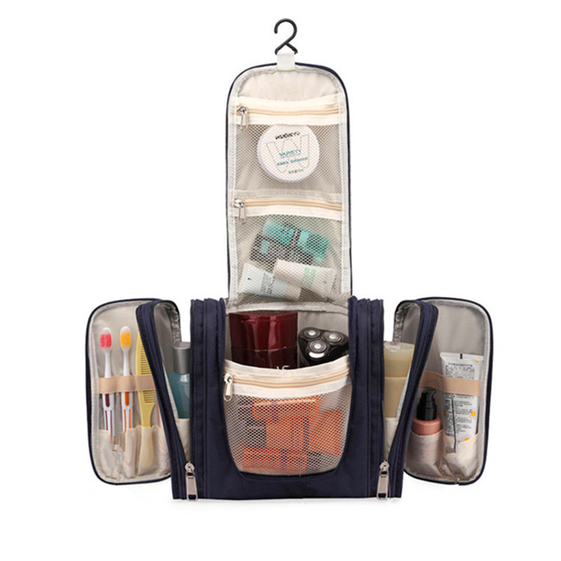 Large Beautician Hanging Cosmetic Bag Organizer Vanity Makeup Wash Cases Box Travel Necessary Toiletries Tools Storage Accessory