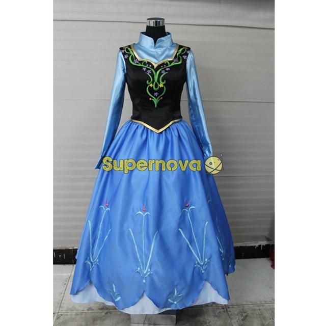 princess anna costume for women elsa anna dress adult princess elsa anna cosplay costume halloween cosplay - Halloween Anna Costume