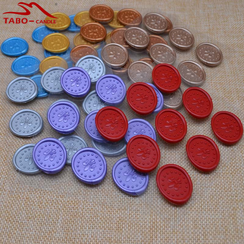 Safety Faux Wax Sealing Wax Stickers In Mixed 7 Colors for One Pack Christmas New Year Greeting Card Decor Sealing Wax Stickers mixed ring pack 10pcs