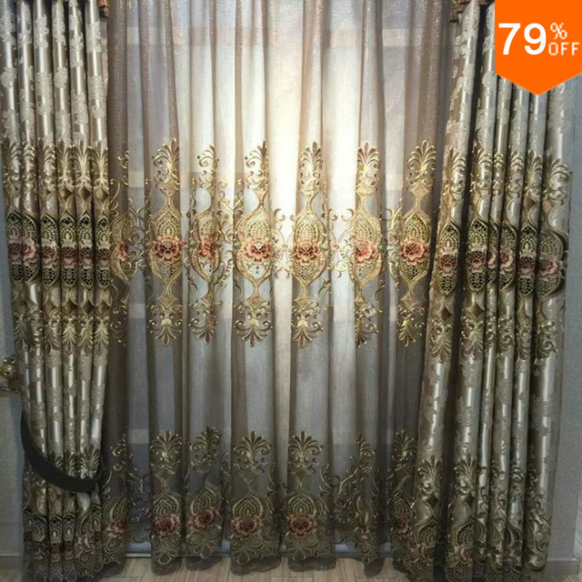 luxury curtains living room decorative window curtain romance embroidery curtains types bay window curtain patterns