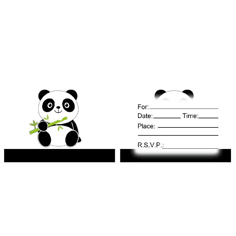 Cartoon Panda Theme Invitation