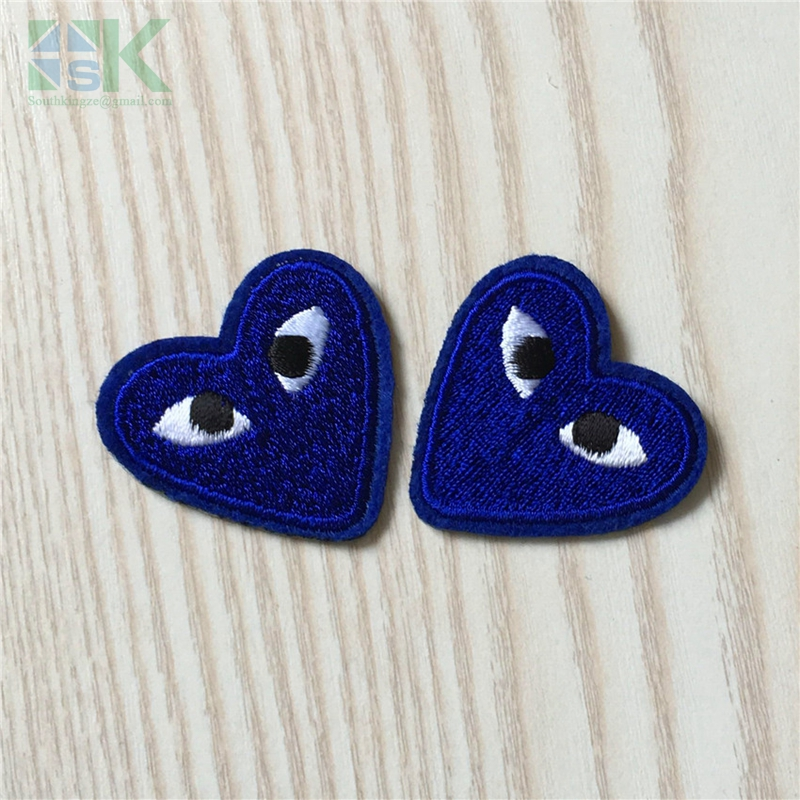 5pcs Lot Sk Navy Patches Comme Des Garcons Cartoon Heart With Eye Embroidered Iron On Patch For Clothing Applique Diy Accessory Embroidered Iron Brand Iron On Patchesiron On Brand Patch Aliexpress