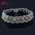 New Fashion Multicolor Rhinestone Choker Necklace Fashion Jewelry Luxury Necklaces for Women Gleaming Multi row Crystal Choker