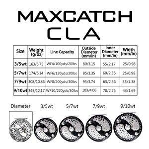 Image 2 - 최대 캐치 CLA 3 10WT 클래식 플라이 낚시 릴 리모콘 디스크 드래그 시스템 CNC 기계 컷 T6061 알루미늄 플라이 릴