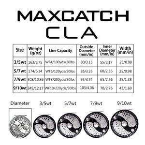 Image 2 - Maximumcatch cla 3 10WTクラシックフライフィッシングリールクリッカーディスクドラッグシステムcncマシンカットT6061 アルミフライリール