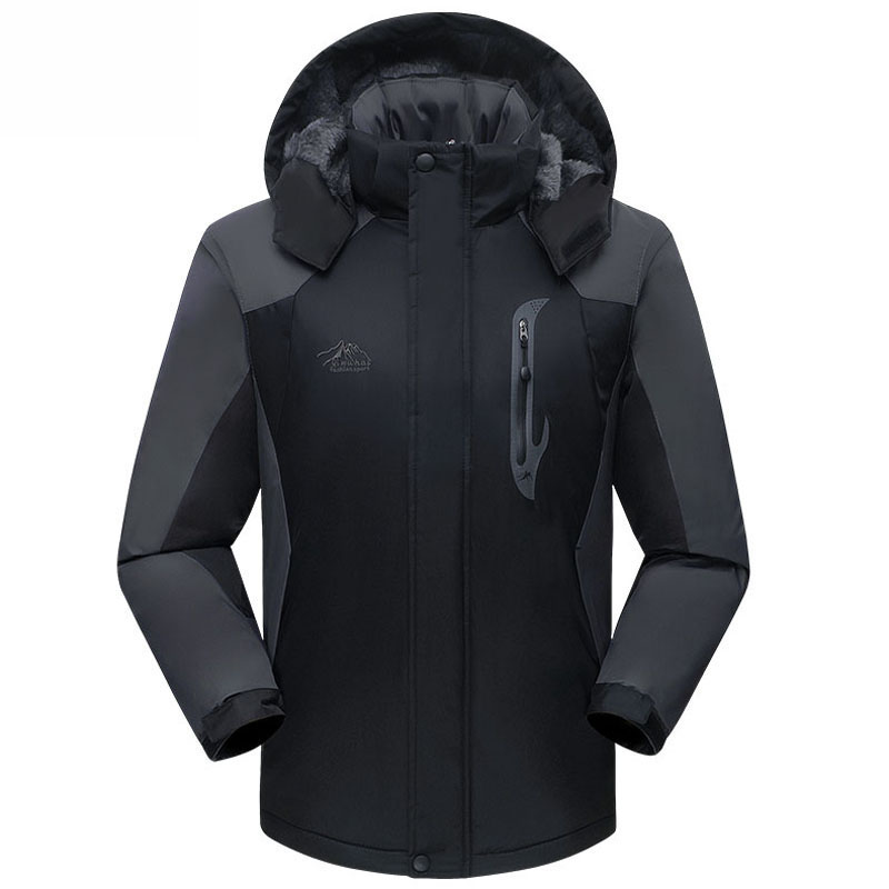 winter jacket men women outwear waterproof windproof thicken plus velvet warm cotton-padded down coat parka brand clothing L~4XL