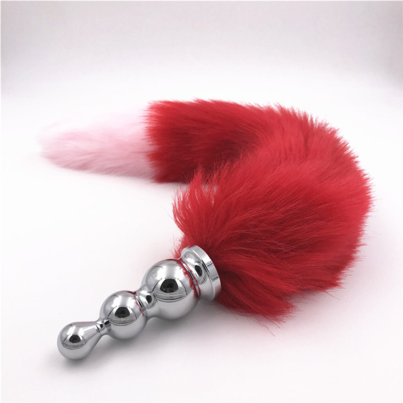 Anal Plugs Stainless Steel Butt Plug Sexy Fox Tail Anal Beads Adult Games Butt Stopper -5672