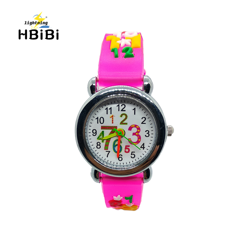 Student Arabic Numerals Children Quartz Watch Child Silicone Watches Pencil Pattern Watch Kids Wristwatches Girl Boy Gift Clock