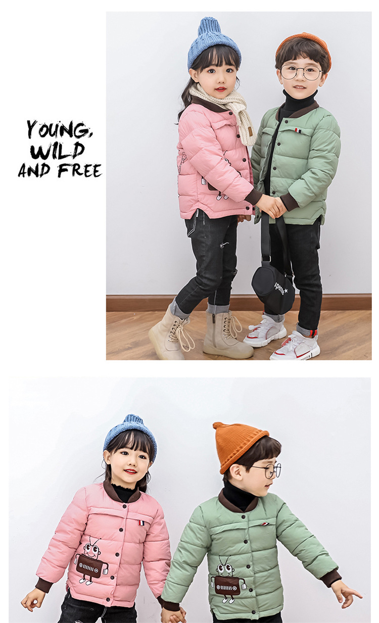 2018 Baby Boys Children Outerwear Coat Kids Jackets For Boy Girls Winter Jacket Warm Hooded Children Clothing Gray Khaki Red (18)