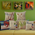 Linen Mediterranean Furnishing Sailor Sea Anchor Pillow Case Paddle Lobster Crab Pillow Cushion Nautical
