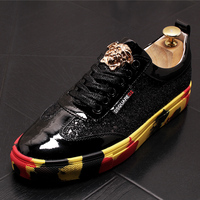 Comfort Silver Nightclub Sequins Sneakers Glitter Heightening Shoes Men Rubber Trainers Gold Prom Lace Up Sequin Hip Hop Skate