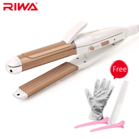 Riwa 3 In 1 Styling Tool Z3 Wave Straight Hair Curling Irons Lively Kinky Curls Hair