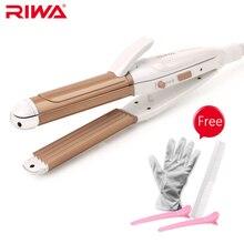 RIWA 3 En 1 Herramienta de Diseño de Onda de Control de Temperatura Plancha de Pelo Curling Irons Pelo Rizado Rizador de Pelo Rizos Animados Z3