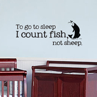 Nursery Fishing Fish Baby Humor Wall Decal Vinyl Wall Art Sticker Wall Paper Wall Stickers Large