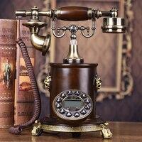 Европейские антикварные Античная Ретро мода сад телефон украшения дома арт деревенский телефон с подсветкой бытовой