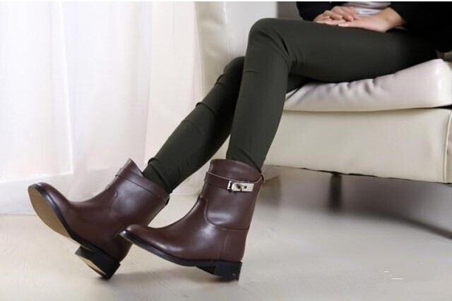 Aliexpress.com : Buy 2014 New Autumn winter leather Women ankle ...