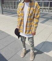 2017 Hip Hop Most Popular Justin Bieber Fear Of God Fog Men Unisex Flannel Long Sleeved