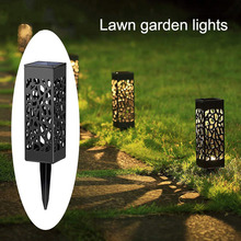 Hot Outdoor Waterproof Solar Hollow LED Lamp Light Control Induction Lawn Garden Light XJS789