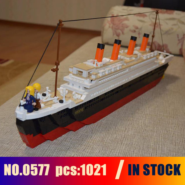 Online Shop 1021pcs Sluban 0577 Toy Cruise Ship Rms Titanic Boat 3d