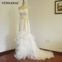 Free Shipping New A Line Bow Sweetheart Sleeveless White Satin Bridal Wedding Dress Wedding Gown Vestido De Noiva 30223