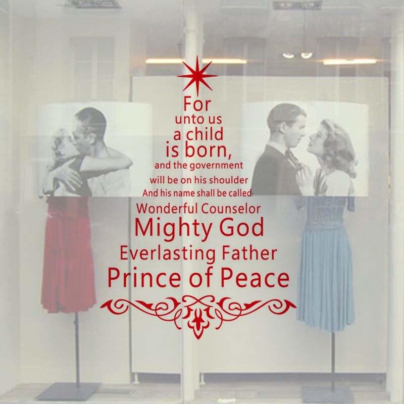 Творческий Дизайн Рождественская елка виниловые наклейки на стены Рождественское украшение для дома магазин одежды Кофе витрину