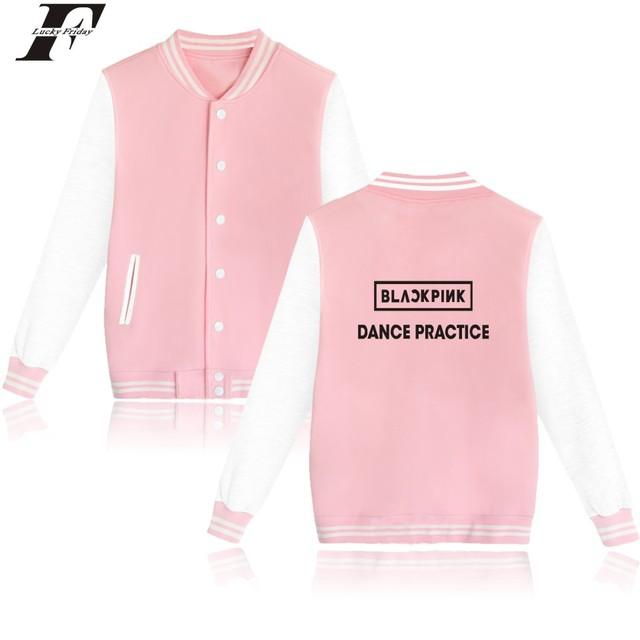 Black Pink Baseball Jacket (20 Models)