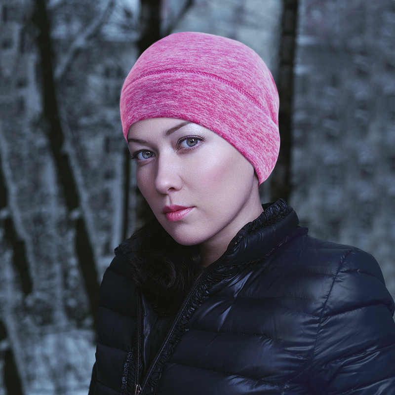 15e735fde6e26 ... Winter Hats for Women Polar Fleece Men Thermal Hat Retention Skull Cap  Helmet Liner Performance Moisture ...