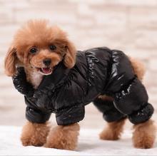 Ciepły zimowy kombinezon dla psa płaszcz wodoodporny kombinezon dla zwierząt 3 kolor polar ubranie dla zwierzęcia pies ubrania czarny różowy niebieski XS S M L XL 2XL 3XL tanie tanio Petalk Poliester Stałe