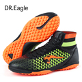 Dr.eagle Size 33-45 kids sock boots Football Shoes with ankle sneakers crampons indoor soccer shoes futsal men wholesale