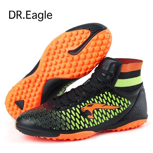 4788a21a97a23 Dr. tamanho águia 33-45 crianças meia botas Sapatos De Futebol com sneakers  tornozelo