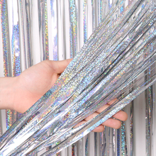 2M 3M 4M Metallic Folie Fringe Shimmer Achtergrond Bruiloft Party Wanddecoratie Foto Booth Achtergrond Klatergoud Glitter gordijn Roze