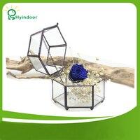 Garden Supplies Flower Pots Modern Vintage Faceted Hexahedron Decorative Flower Pot Fairy Gardening