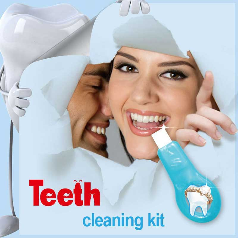 Teeth Cleaning Kit 2017 Trending Non Peroxide Whitening Coffee Stain Remover with 5 refill