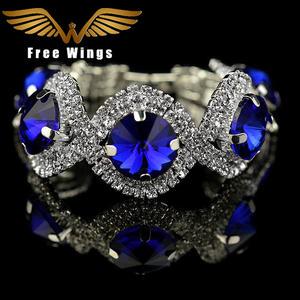 big sale ba42a ea552 free wings Bracelets for women Stone Jewelry bangle crystal