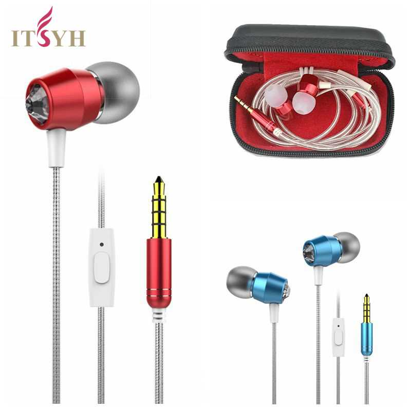 In-Ear Earphone Headse With MIC In-line Control diamond docoraction Stereo Sound  Earphones For cell phone MP3 MP4 game TW-773 yl in ear earphones w mic line control for samsung galaxy n7100 note 3 n9000 pink 112cm