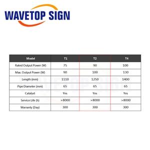 Image 3 - WaveTopSign Reci T2 90 W 100 W CO2 לייזר צינור אורך 1250mm Dia.65mm עבור לייזר חריטת מכונת חיתוך s2 Z2