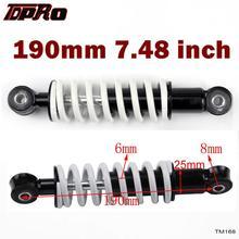 """TDPRO Mini 7,5 """"190 мм 250lb задний амортизатор для мотоцикла, амортизатор, амортизатор, подвеска для внедорожника, мотоцикла, яма, четырехъядерный, внедорожный велосипед, картинг, багги"""