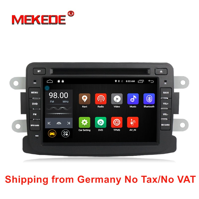 Quad-core Pure Android 5.1.1 car GPS navigation Radio For Dacia Renault Duster Logan Sandero with wifi BT DVD free shipping