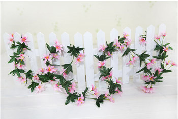 SPR WEDDING FLOWER Small lily flower vine 70PCS petals (10/lot),4color available FREE SHIPPING