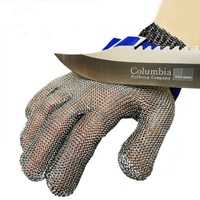NEW Durable High Quality Safety Level 5 Cut Proof Stab Resistant Protect Glove 100% Stainless Steel Metal Mesh Butcher Working