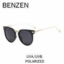 Бензола Винтаж кошачий глаз Солнцезащитные очки Для женщин Ретро поляризованный женский Защита от солнца Очки УФ Дамы вождения Очки оттенков с коробкой 6508