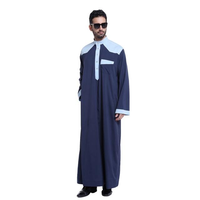 Vestuário muçulmano para Homens Mens Homem roupas Jubba Branco Thobe Abaya Árabe Kaftan vestuário Islâmico Arabe Ropa hombre S2