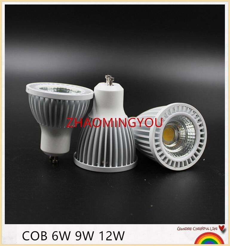 Light Bulbs You 10pcs Dimmable New High Power Cree Gu10 Mr16 6w 9w 12w Led Cob Spotlight Lamp Bulb Warm Cool White 85-265v Ce Rohs