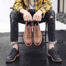 Brand British Style Men Shoes Classic Leather Oxfords Business Luxury Casual Increase Non-slip Loafers Vintage