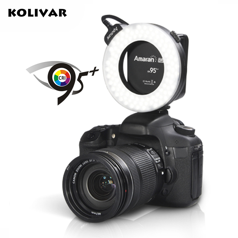KOLIVAR Aputure HC100 LED Marco Ring Light Video Flash Light For Canon 5D Mark II III 5D2 7D 6D 70D 700D 650D 60D 600D Camera купить в Москве 2019
