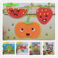 HAPPYXUAN 20 Designs/pack The New ZH Series Small EVA 3D Stereo DIY Stickers Children Hand Making Jigsaw Puzzle Cartoon