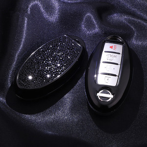 2019 Luxurious Starry Bling Crystal Diamond Key Case Shell Protector for Nissan Infiniti QX50 Q50L Q60 Q70 QX6 Gifts For Girls|Key Case for Car| |  -