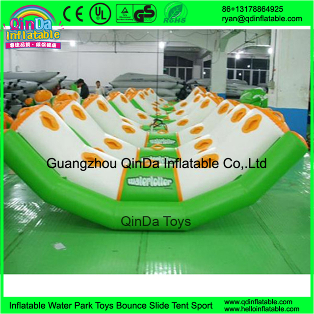 Guangzhou QinDa 0.9mm PVC Inflatable Water Totter, inflatable floating water seesaw
